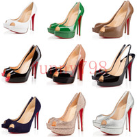 86dc9a663220a With box 2019 new designer sexy fish mouth waterproof platform high heel  women s fine with spring and summer wild light red bottoms shoes