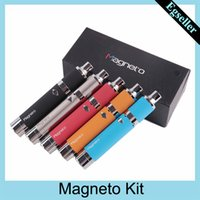 Wholesale clone wax resale online - Magneto Kit mAh Battery Magnetic Coil Cap Built in Silicone Jar Ceramic Coil Wax Vapor Pen VS evolve plus clone
