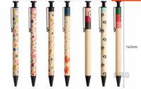 Wholesale korea ballpoint pen resale online - korea fresh wooden ballpoint pen creative roller pen stationery prize gift office writing student learning office supplies pc