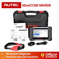 vw immo reader al por mayor-Autel MaxiCOM MK808 Escáner de diagnóstico automotriz con lector de códigos de servicio IMMO / EPB / SAS / BMS / TPMS / DPF para programación clave