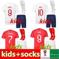 uniforme verde da juventude do futebol venda por atacado-crianças kit Inglaterra Soccer Jersey ROONEY KANE STURRIDGE STERLING HENDERSON Vardy jerseys meninos do futebol da juventude CALCIO shirt