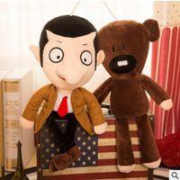bayan beyna peluş oyuncak bebek toptan satış-30 cm Sevimli Kawaii Mr Fasulye Teddy Bear Peluş Oyuncak Mr Doll Mr.Bean Oyuncaklar Çocuklar Için Doğum Günü Hediyesi Hediye Knuffels Dieren N047