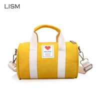 mini cubos de bebe al por mayor-LISM Lienzo Bolsas de viaje para niños Bebé Lindo Mini Bolsa de Mensajero Paquete de Hombro de Hombro de los niños Princesa de la muchacha Bolsas de cubo