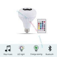 ücretsiz gönderim e14 mum ampul toptan satış-Smart bulb wireless control Music LED bulbs RGB 24 key remote12W Bluetooth speaker LED bulb could be with USB function with USB 3.0 function