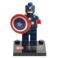 ingrosso toy lego-2019 New Super Hero Figure Giocattoli The Avengers Giocattoli Action Figures DIY Building Blocks Mattoni Mini figure