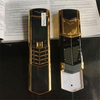 moda dual sim al por mayor-Desbloqueado Classic CellPhone K9 + Control deslizante Botón de lujo Personalidad de pantalla pequeña Moda Metal Negocio Teléfono móvil Doble Sim Firma Versión
