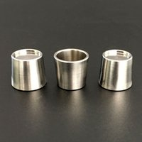 Wholesale titanium nail bowl resale online - New Quartz Titanium Insert Bowls Peak Bowl with Flat Top Bottom Thermal Nail for Thick Domeless quartz banger glass bong