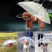 Wholesale outdoors for sale - Group buy Transparent PE Pet Umbrella Small Dog Puppy Umbrella Rain Gear with Dog Leads Keeps Pet Travel Outdoors Supplies DHL HH9