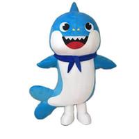 traje de spandex animal al por mayor-2018 venta caliente nuevo bebé traje de la mascota del tiburón traje de la mascota del animal disfraz de Halloween disfraces
