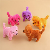 Wholesale interactive games kids resale online - The New Electronic Walking Dogs Kids Children Interactive Electronic Pets Doll Plush toys Neck Bell Barking Electronic Dog Toy TH