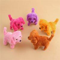 havlayan köpek oyuncakları toptan satış-Yeni Elektronik Yürüyüş Köpekler Çocuk Çocuk Interaktif Elektronik Evcil Bebek Peluş oyuncaklar Boyun Çan Barking Elektronik Köpek Oyuncak TH
