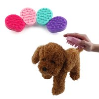 Wholesale pet shower brush resale online - Comfortable Pet Brush Grooming Dog Puppy Cat Washing Cheaning Bath Brush Comb Dog Massage Shower Brushes DHL KKA7052