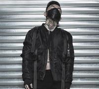 Wholesale punk patch clothing online - TKPA Mens Dark Black MA1 Jackets Rock Punk Style Winter Cotton padded Warm Jacket Coats Hombres Clothing