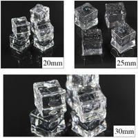 ingrosso pietre acriliche di plastica-Simulazione acrilica trasparente quadrato grano di plastica cristallo pietra pietra puntelli di tiro Forniture per feste regali di vendita calda