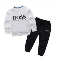 ingrosso giacca di tuta t-shirt-2019 New classic Luxury Designer Baby t-shirt jacket Pantaloni Two-piec 1-4 anni olde Suit bambini moda bambini 2pcs set di abbigliamento in cotone