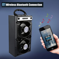 Wholesale portable multimedia player resale online - Dec Discount MS BT Portable High Power Output Multimedia FM Radio Wireless Bluetooth Speaker with retail box