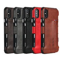 Wholesale leather iphone wallet credit card cases online – custom New Arrival For Iphone XSMAX XR X PLUS tpu pu leather phone case cover wallet credit card slots