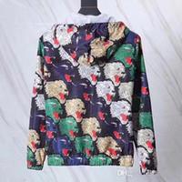 italienische pfeifen großhandel-Italienisches Design Marke Mantel G Regenbogen Leopardenmuster Jacke gerippte Paspel Leoparden Kopf Jacquard G Herrenjacke