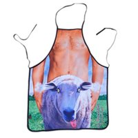 Wholesale sexy naked apron resale online - Novelty Cooking Other Housekeeping Organization Housekeeping Organization Kitchen Sheep and Naked Man Pattern Sexy Apron Cooking Grillin