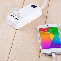 Wholesale socket extension adapter resale online - 4USB Ports Phone Charger HUB W A Desktop EU US UK Plug Wall Socket Charging Extension Socket Power Adapter for IPhone