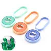 Wholesale silicone bottle opener for sale - Group buy Metal Silicone Bottle Opener Multi Function C Simplicity Beer Tin Corkscrew Durable Superior Quality With Different Color hb J1
