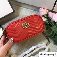 ingrosso sacchetto nero del vestito-Marmont Womens Luxury Wave Cuore Borse a tracolla Borse rosse rosse Manici per donna Abito a catena Totes Alto