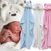 Wholesale hooded towels toddlers resale online - Baby Bathrobe Cute Animal Cartoon Baby Blanket Kids Hooded Bathrobe Toddler Baby Bath Towel Newborn Blanket Children Towel