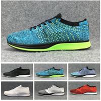 zapatos color lavanda mujer al por mayor-Nike Air Zoom Mariah Flyknit Racer 1 de calidad superior hombres mujeres zapatos casuales Blueberry Pistachos lavanda color ligero transpirable zapatos para caminar