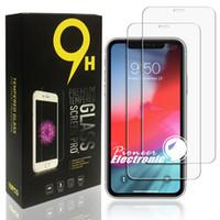 temperli samsung iphone toptan satış-Retailbox ile iphone 11 pro max x xr xs max için Samsung A20 A30 A40 A50 A60 A70 A80 temperli cam için 2019 Yeni ekran koruyucusu