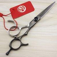 saç kesme takımları toptan satış-Berber Kesim Saç için Mor Ejderha 5.5 inç Kuaför Scisors / Makas Seti Profesyonel Saç Kesme-Makas Saç Kesme