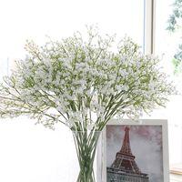 flores para decorações do casamento venda por atacado-Colorfull Artificial Gypsophila Silicone Macio Real Toque Flores Artificiais Gypsophila para Festa de Casamento Em Casa Decoração Festiva HHAA429