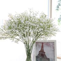 silikon düğün çiçekleri toptan satış-Düğün Ev Partisi Şenlikli Dekorasyon HHAA429 için Colorfull Yapay Gypsophila Yumuşak Silikon Gerçek Dokunmatik Çiçekler Yapay Gypsophila