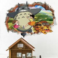 Wholesale art murals for kids for sale - Group buy Mon Voisin Totoro Wall Sticker PVC Self adhesive D Cartoon Kids Wall Art Decal for Kids Room Nursery Decoration Totoro Sticker Murals