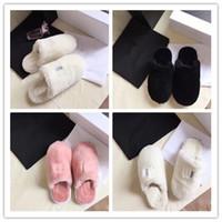 Wholesale winter indoor slippers men for sale - Group buy Designer Women Men Furry Slippers Unisex Fur Sandals Winter Warm Boots Shoes Wools House Boots Indoor Outdoor Warm Fur SlipperC72907