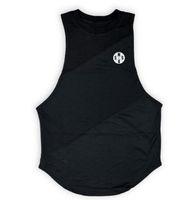 Wholesale top fitness equipment brands online - GYM Brand Clothing Summer Singlets Mens Tank Tops Shirt Bodybuilding Equipment Fitness Men s Stringer Tanktop Vest