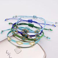 Wholesale rice bracelets resale online - 201909 New Style Rice beads Woven bracelet Bohemian Style Rice beads wax rope bracelet hand woven bracelets Adjustable Strap Jewelry M579Y