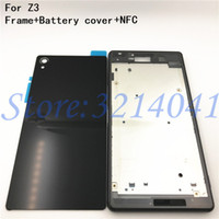 Wholesale xperia battery cover for sale – best New Full Housing Case Replacement For Sony Xperia Z3 L55 L55w D6603 D6653 LCD panel Frame Middle Bezel Battery door Cover Logo