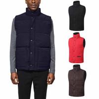 ingrosso maglia invernale stile uomo-Piumino d'oca del Canada Style Jacket Coats Man Autunno / Inverno Casual Warm Jacket Uomo Moda di alta qualità senza maniche Outwear Spedizione gratuita