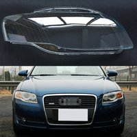 Wholesale audi headlamps for sale - Group buy For Audi A4 B7 Transparent Car Headlight Headlamp Clear Lens Front Auto Shell Cover