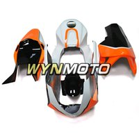 черный оранжевый мотоцикл обтекатель оптовых-Оранжевый Белый Черный Стекловолокно Гонки Мотоцикл Обтекатели для Honda CBR600RR 2003 2004 F5 03 04 АБС-пластик Впрыск капота мотоцикла