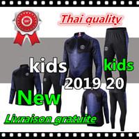 xxs ceketleri toptan satış-2019 2020 Psg çocuklar eşofman 19 20 Jordam psg futbol koşu çocuklar ceket MBAPPE POGBA Survetement Paris hava çocuk futbol eğitimi ...