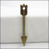 collar de flecha diy al por mayor-200 unids encantos de la vendimia flecha colgante de bronce antiguo collar de las pulseras aptas DIY Metal fabricación de joyas