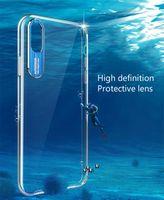 ich telefoniere transparent großhandel-Transparentem acryl metall objektiv für huawei honor 7 c 7 8 x max shell honor 9 10 i lite absturzsichere tasche handyhülle