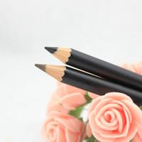 черная водостойкая бровь оптовых-1pc Waterproof Black Color Eyebrow Eyeliner Pencil Cosmetics Eyeliner Pencil Waterproof Easy To Use Eyes