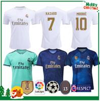 Wholesale bale soccer shirt resale online - 19 Real madrid football Jersey Benzema JOVIC MILITAO Modric Ramos Bale HAZARD adult man woman kids boy sports Soccer shirt