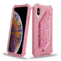 caixa de telefone líquido 3d venda por atacado-Recente Caso Telefone Líquido Glitter Defender para iPhone 11 Pro Max XS Max XR X 8 Plus 7 6 3D Quicksand Estrelas de brilho claro tampa protetora