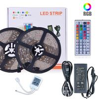 tira de luz del techo al por mayor-SMD 5050 Luces LED Kit de tira impermeable Cinta LED Vacaciones navideñas Techo interior Decoración de fiesta Luz LED flexible RGB 5M 10M