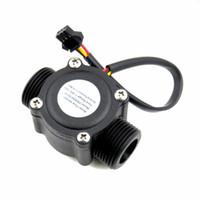interruptor del sensor de flujo de agua al por mayor-G3 / 4 Sensor de flujo de agua Interruptor Medidor de flujo de alta precisión Dispensador de agua automático líquido Medidor de flujo para calentador de agua