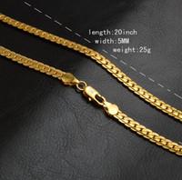 asiatische schmucksachen 18k goldarmbänder großhandel-Frauen Mode Männer Schmuck 5mm 18k Gold überzogene Kettenhalsketten-Armband Luxus Miami Hip Hop Ketten Halsketten Geschenke Accessoires