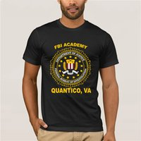 Wholesale fashion academy resale online - Men s white Fashion Men classic Tops Tee Shirts New Academy Quantico Va Police Department Of J tice T Shirts For Men